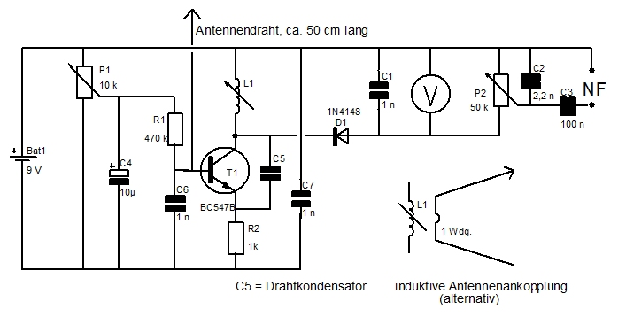 kainka eintransistor ukw empf nger forum circuits. Black Bedroom Furniture Sets. Home Design Ideas